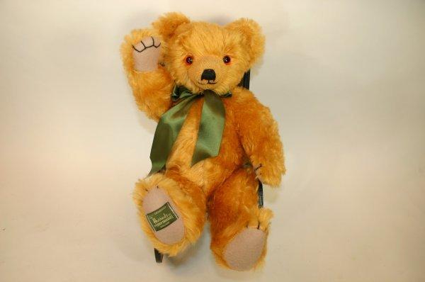 110: Harrod's Merrythought Green Tie Bear