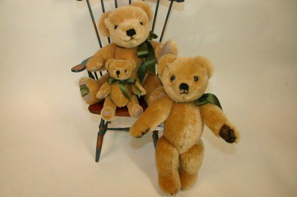117: 3 Merrythought Harrod's Exclusive Mohair Bears