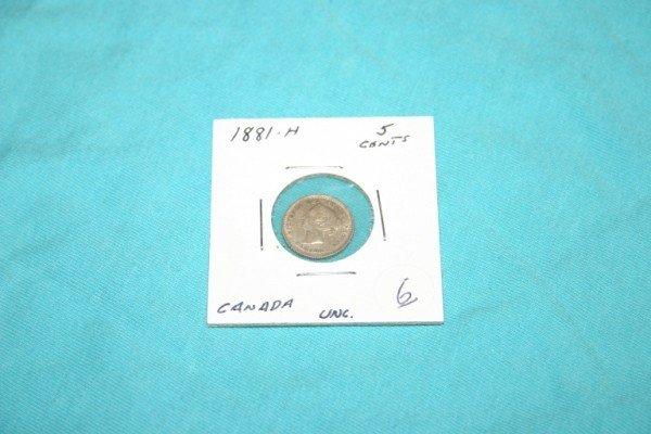 1006: 1881 Canadian Nickel Uncirculated