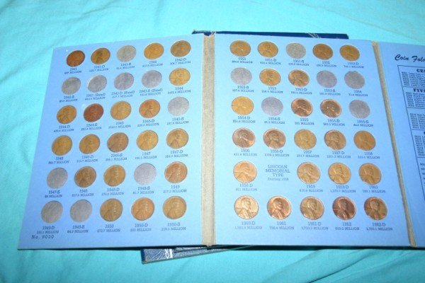 1013: 1940-1963 4 Partial Sets Lincoln Cents