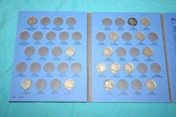 1016: Partial Set Buffalo Nickels 29 pcs