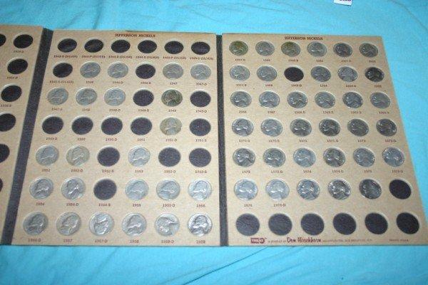 1017: Large set Jefferson and Buffalo Nickels 71 pcs