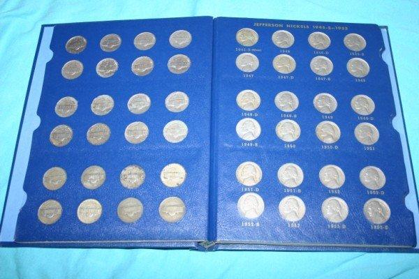 1018: Complete Set Jefferson Nickels 1938-1964