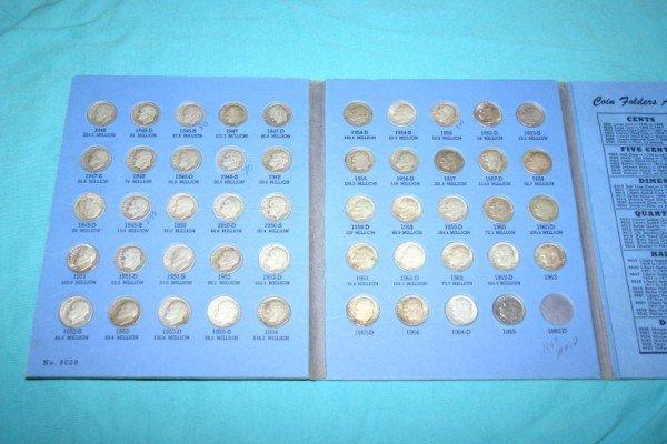 1020: Complete Set Roosevelt Dimes 1946-1979