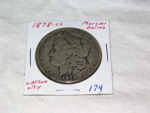 1174: 1878-CC Morgan Dollar Carson City