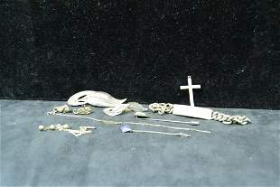 Sterling silver jewelry Bracelet pins etc