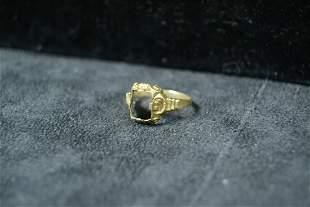 10K Antique ring setting