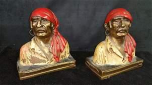 Pair of figural Bronze bookends - Paul Herzel