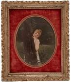 Girl Hidden Behind Tree Stock (Coucou!), Jan van Beers