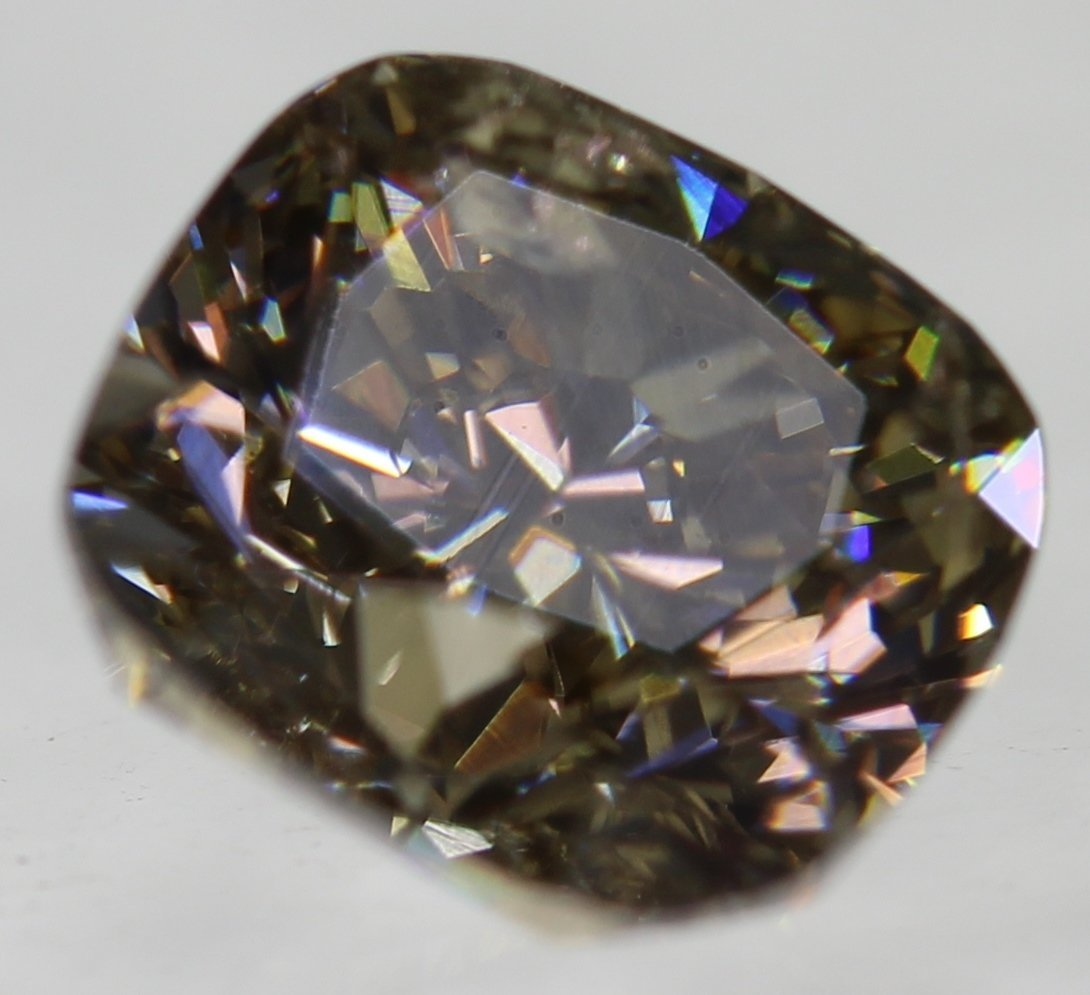 1.06 Carat  Intense Brown VS1 Cushion Loose Diamond