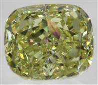 079 CARAT YELLOW VVS2 CUSHION NATURAL LOOSE DIAMOND