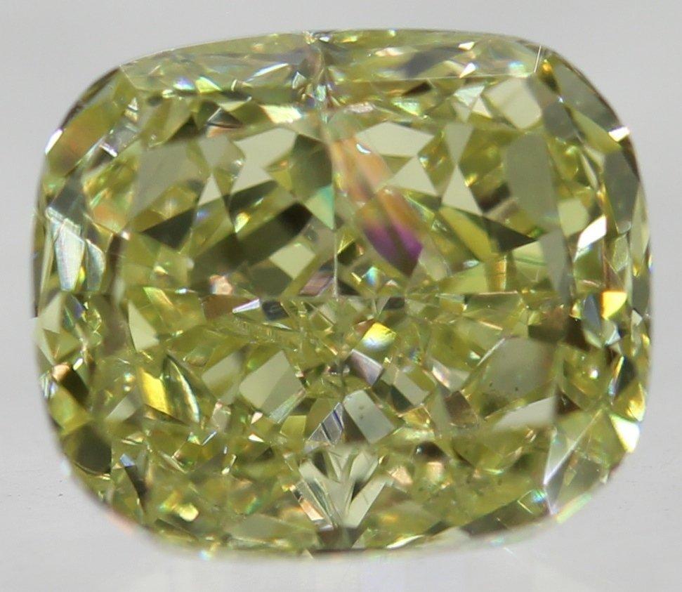0.79 CARAT YELLOW VVS2 CUSHION NATURAL LOOSE DIAMOND