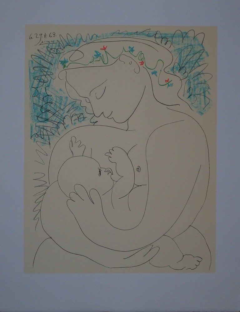 Pablo Picasso: Maternity, Signed lithograph