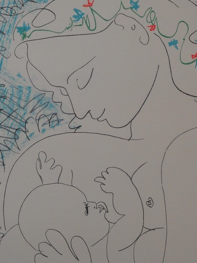 Pablo Picasso: Maternity, Signed lithograph - 3