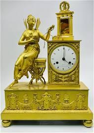19th century gilded bronze western clock