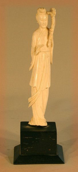 13: Oriental Carved Ivory Woman
