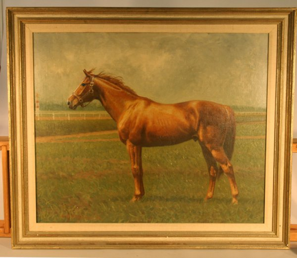 80: C.W. Anderson Horse Oil Painting