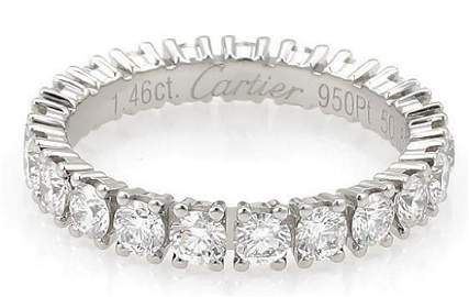 Cartier Destinee Diamond Platinum Eternity Ring