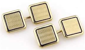Vintage Cartier 14K Gold Square Cufflinks