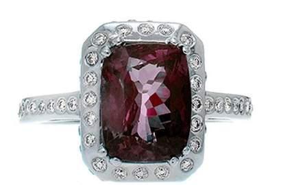 GIA Certified 18K Gold Alexandrite & Diamond Ring
