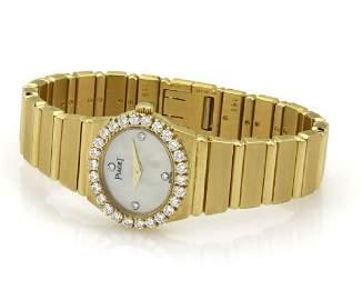 Piaget POLO Diamond 18k Gold Ladies Quartz Watch