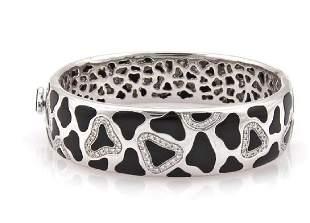 Roberto Coin Panda Onyx Diamond 18k Gold Bracelet