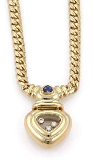 Chopard Happy Diamond 18k Gold Heart Necklace