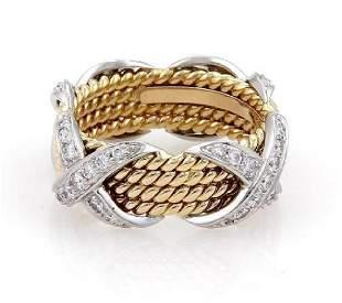 Tiffany Co Schlumberger Diamond 18k Gold Ring