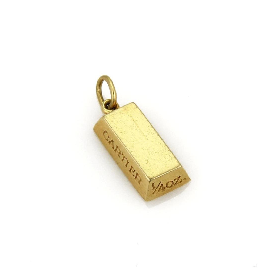 d033908b7461e Cartier 1/4 oz. 18k Gold Ingot Bar Charm Pendant