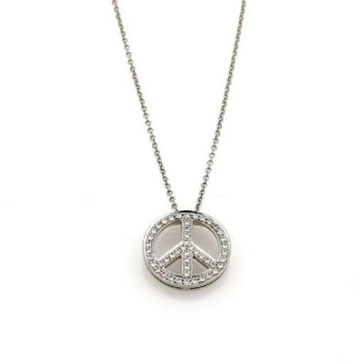 bd1edc4bf Tiffany & Co. Diamond Platinum Peace Necklace