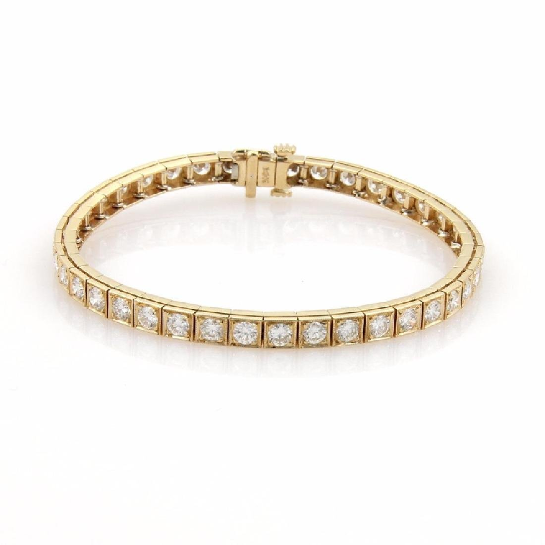 38a084a4a182a 6ct Diamonds 14k Yellow Gold Square Link Bracelet - Feb 09, 2019 ...