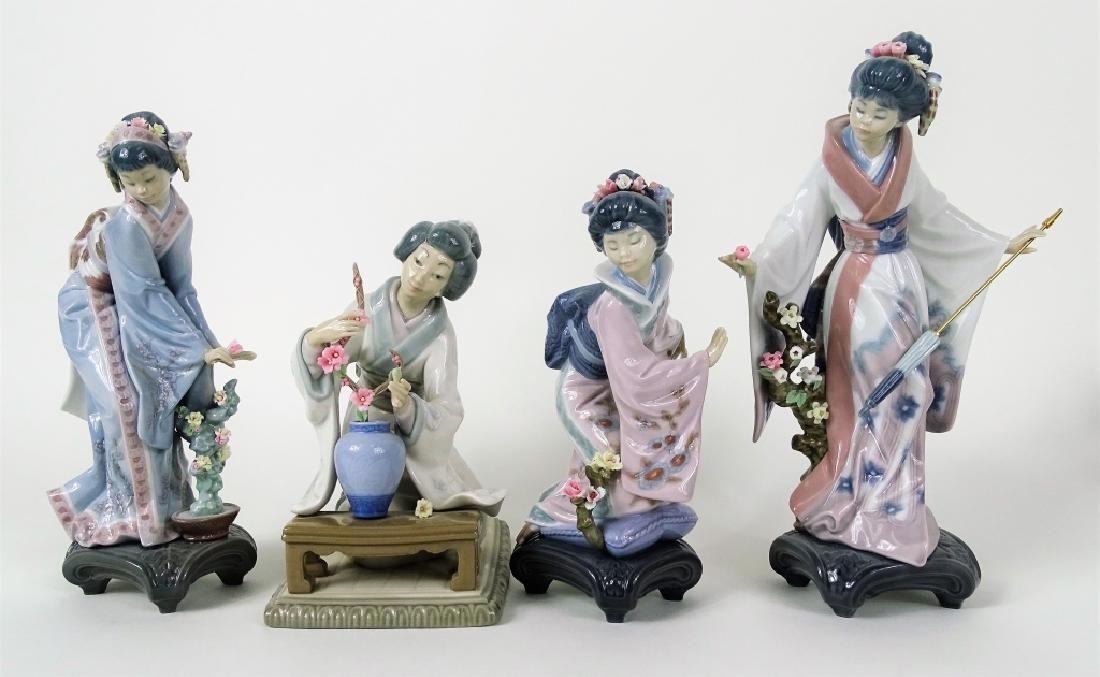 "4 LLADRO ""JAPANESE GIRLS"" #4840 #1451 #1449 #1447"
