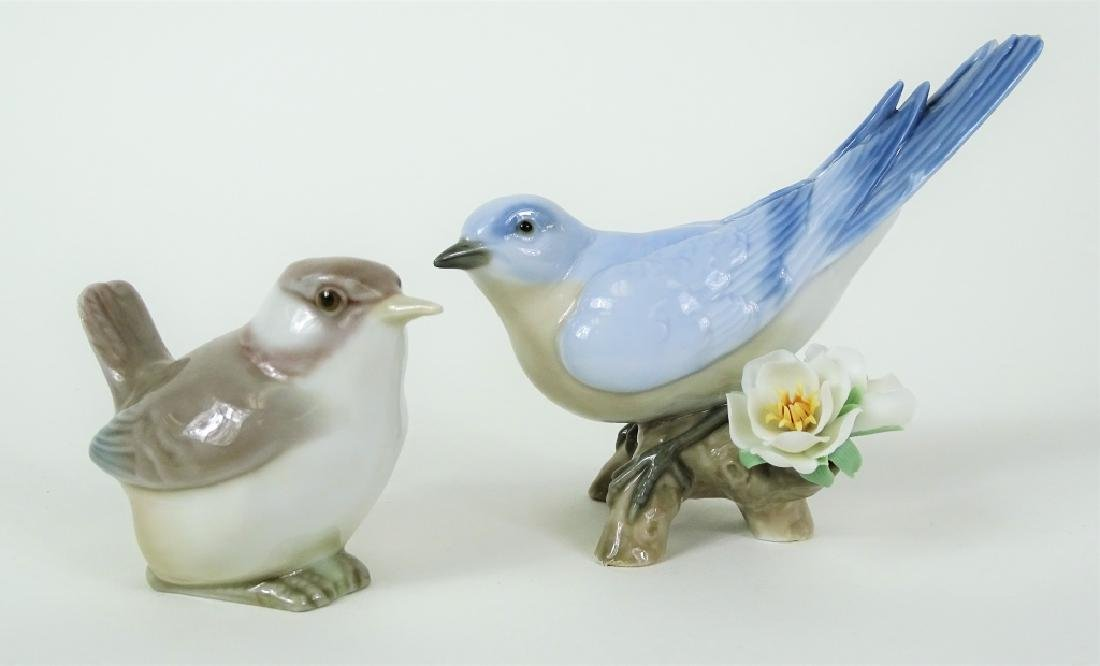 (2) LLADRO PERCHED BIRDS