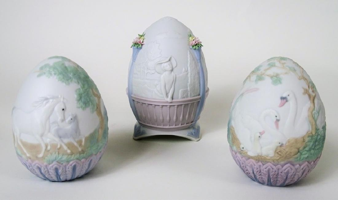 (3) LLADRO LIMITED EDITION EGGS