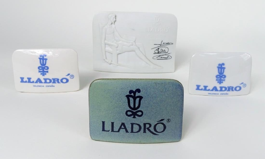 (4) LLADRO PORCELAIN PLAQUES COLLECTOR'S SOCIETY