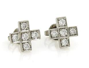 Tiffany Co Diamond Platinum Cruciform Cross Med