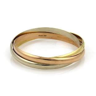 Cartier Trinity 18k TriColor 55mm 3 Rolling Bang