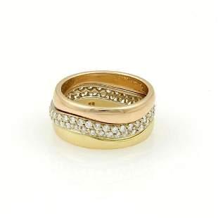 Cartier 18k Gold Diamond Polished Eternity Ring