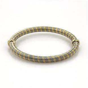 Cartier Vintage 18k Gold Steel Wire Wrap Bangle
