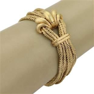 18k Yellow Gold 11 Weave Strand Chain Bracelet