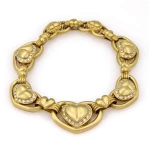 Vahe Naltchayan 18K Gold Diamond Heart Bracelet