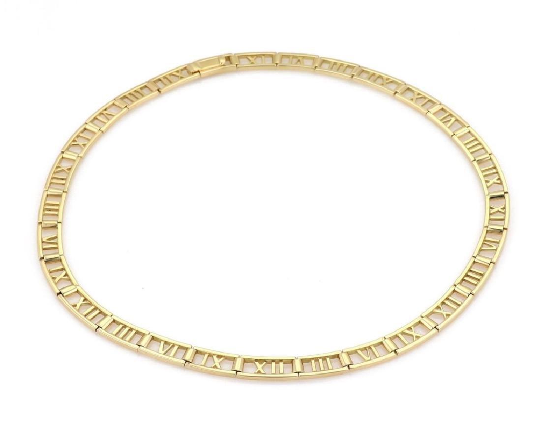 Tiffany & Co. 18k Gold Roman Numeral Necklace