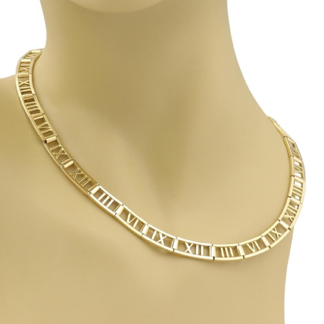Tiffany & Co. 18k Gold Roman Numeral Necklace - 4