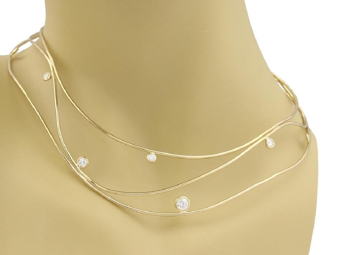 Tiffany & Co. Peretti Wave Diamond 18k Necklace