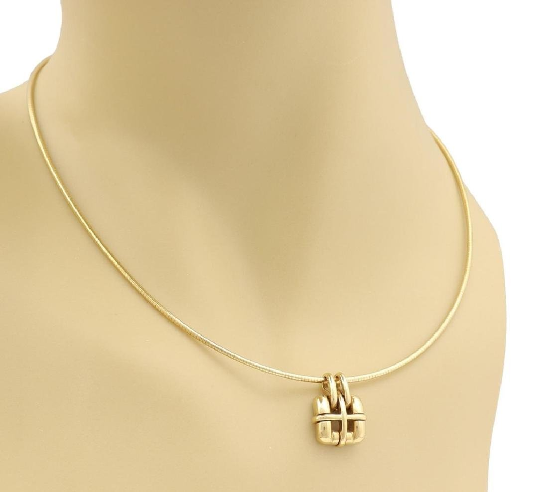 Tiffany & Co 18k Gold Pendant Snake Cable Necklace - 2
