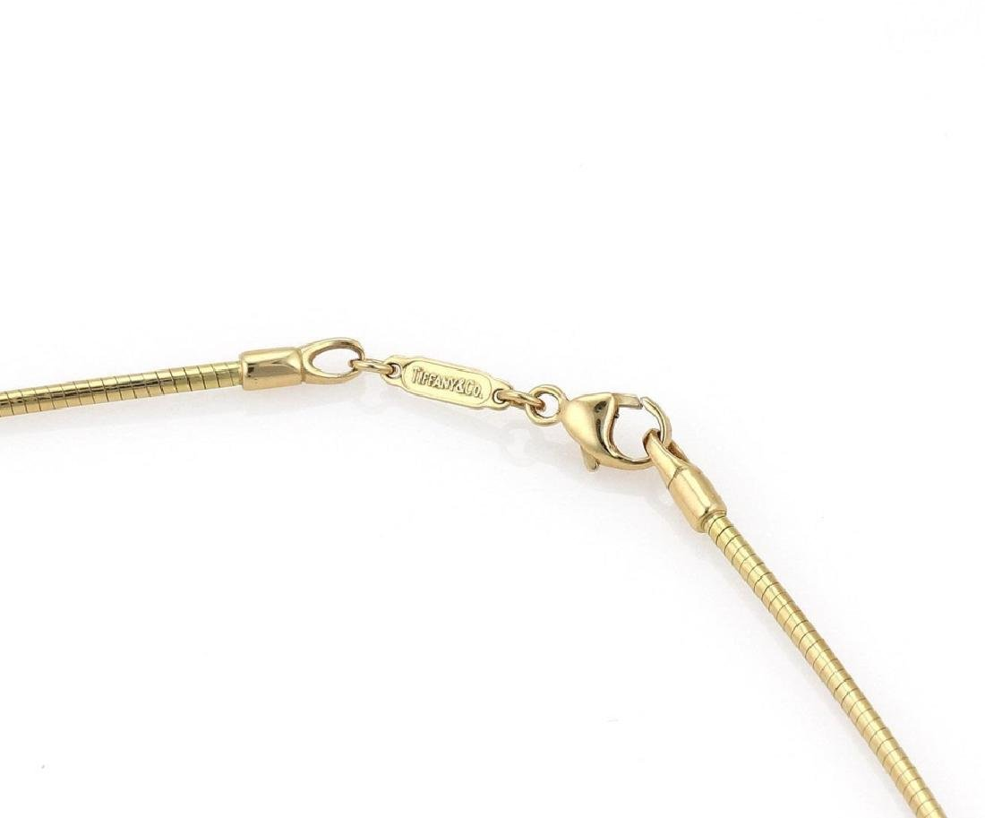Tiffany & Co 18k Gold Pendant Snake Cable Necklace - 4