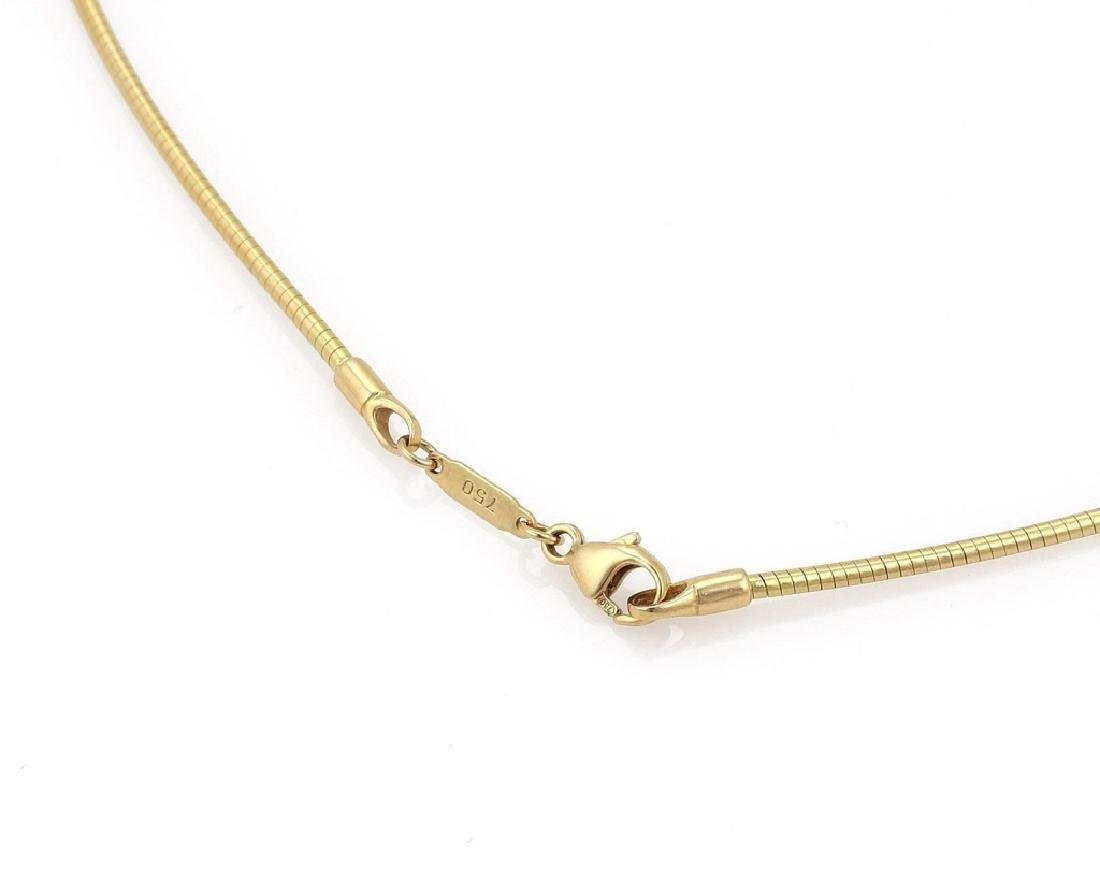 Tiffany & Co 18k Gold Pendant Snake Cable Necklace - 5