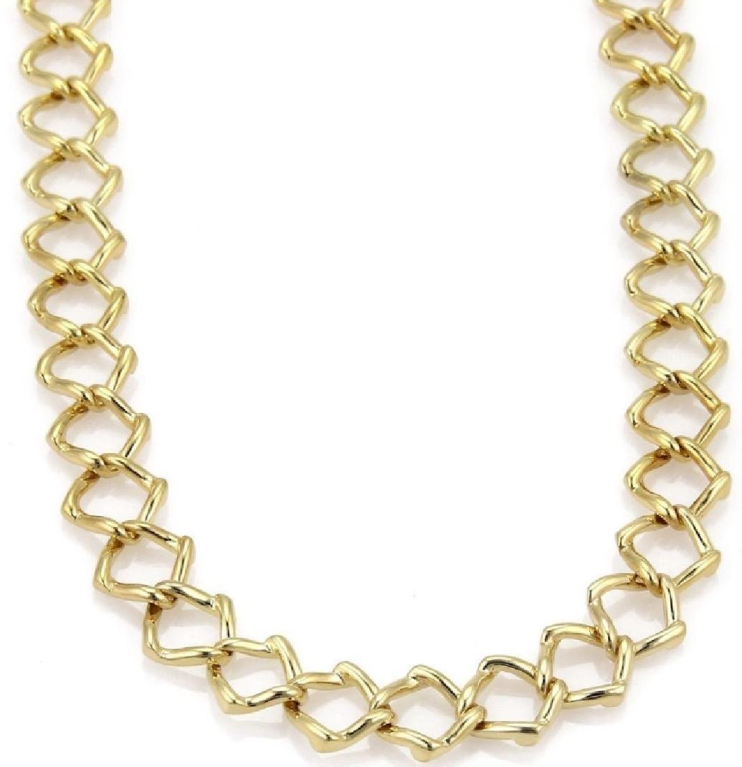 Tiffany & Co Picasso 18k Gold Square Link Necklace