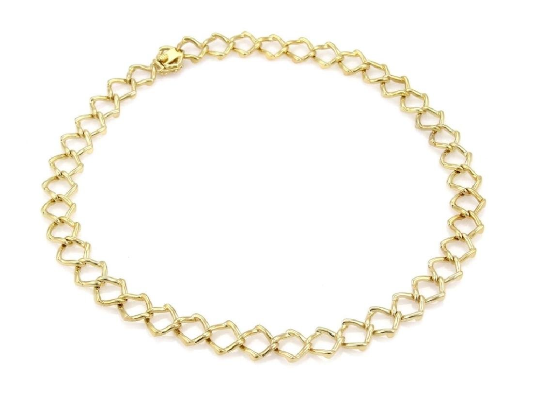 Tiffany & Co Picasso 18k Gold Square Link Necklace - 2