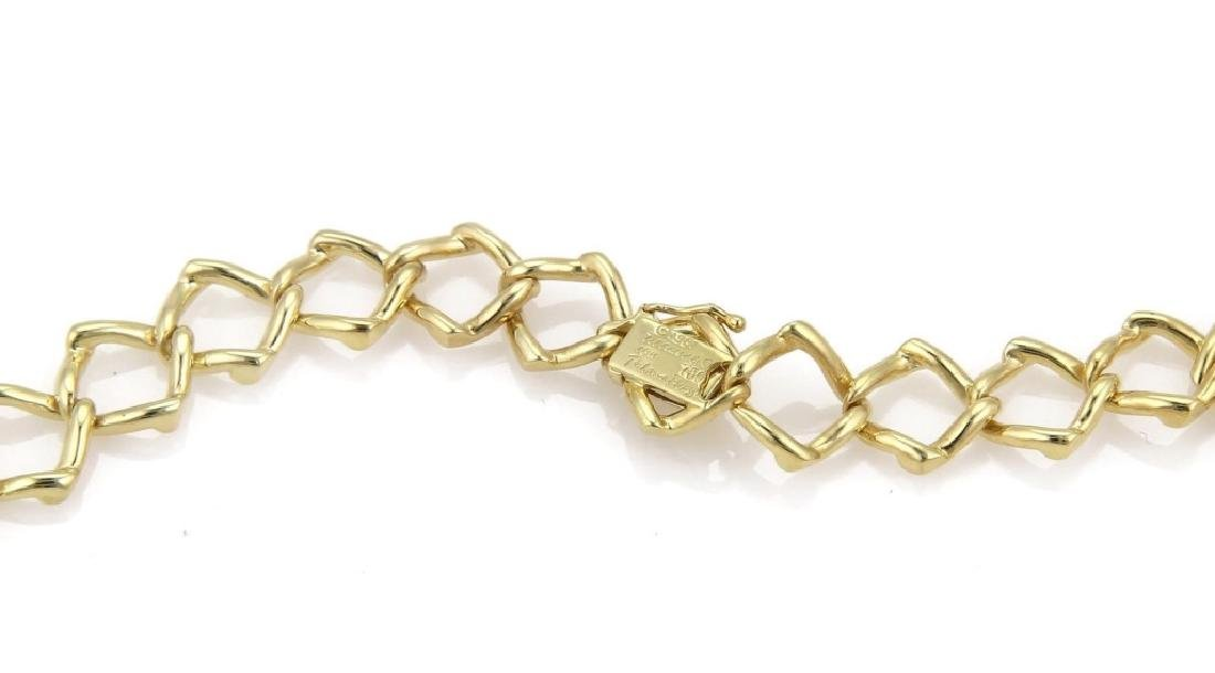 Tiffany & Co Picasso 18k Gold Square Link Necklace - 5